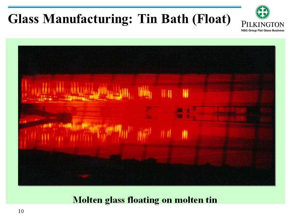 Glass Manufacturing: Tin Bath (Float)