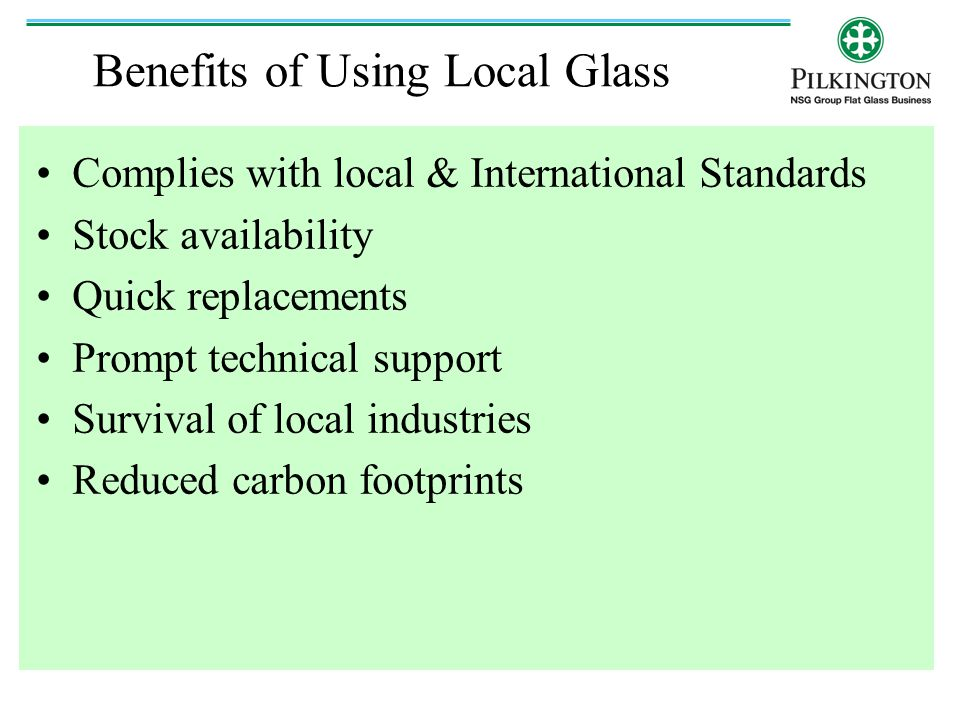 Benefits of Using Local Glass