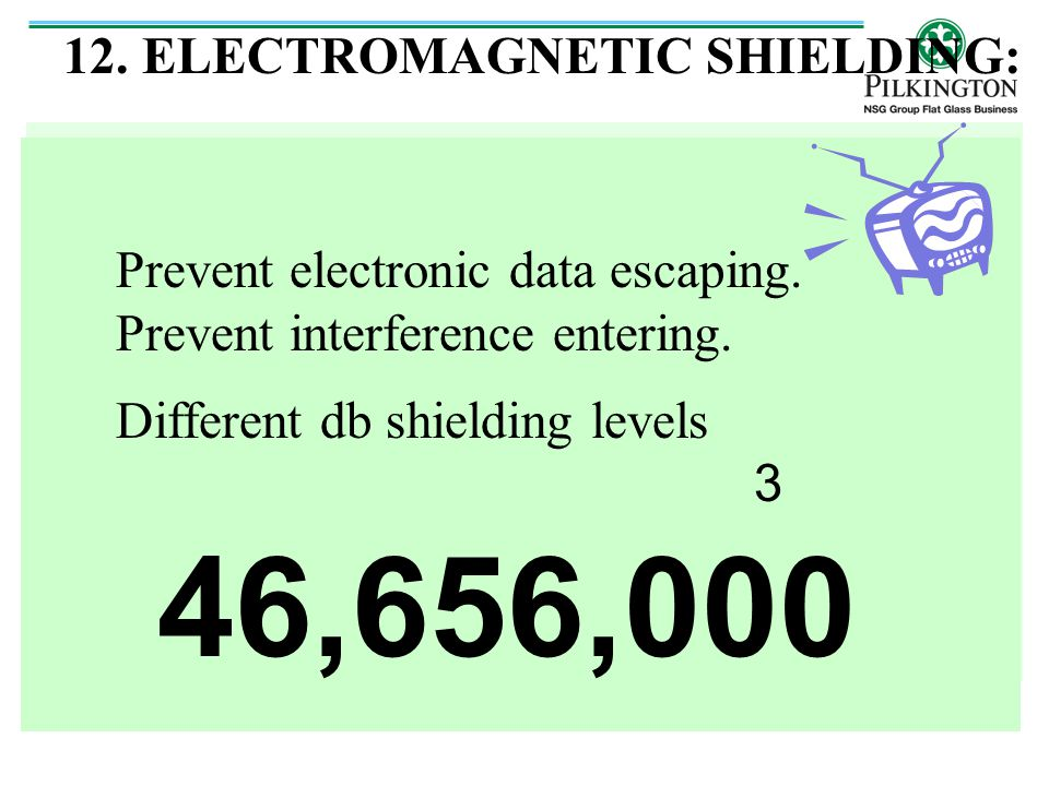 46,656,000 12. ELECTROMAGNETIC SHIELDING: