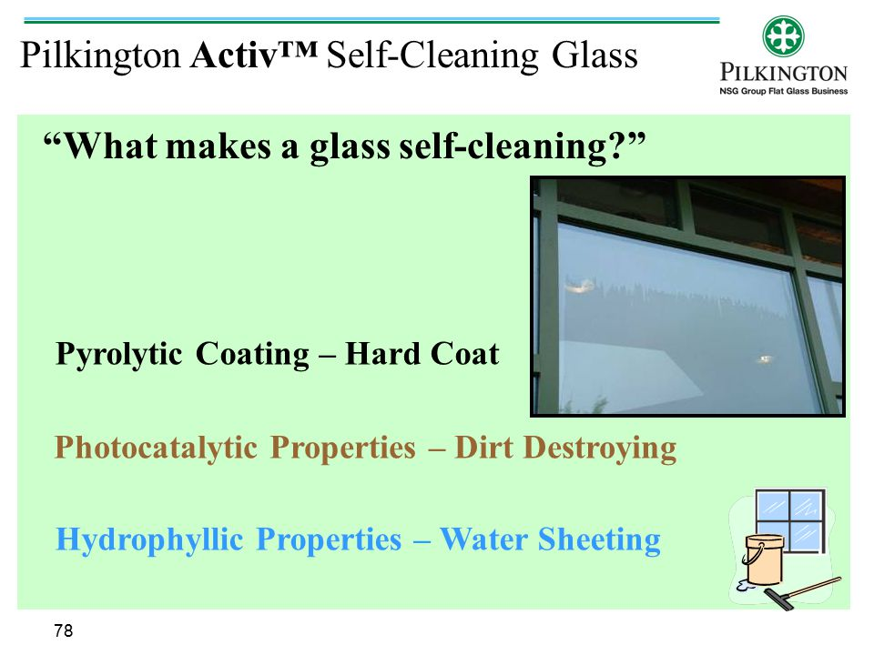 What makes a glass self-cleaning