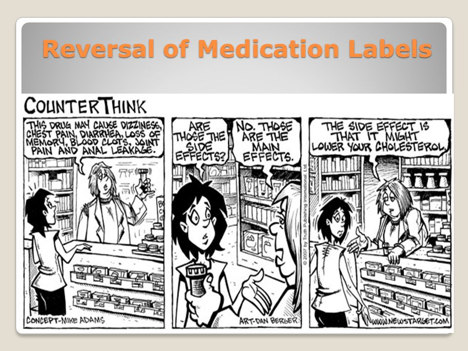 Reversal of Medication Labels