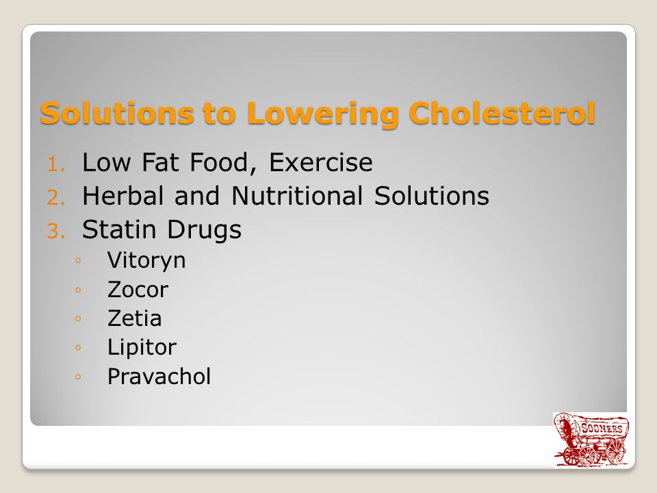 Solutions to Lowering Cholesterol