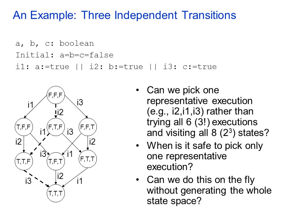 An Example: Three Independent Transitions