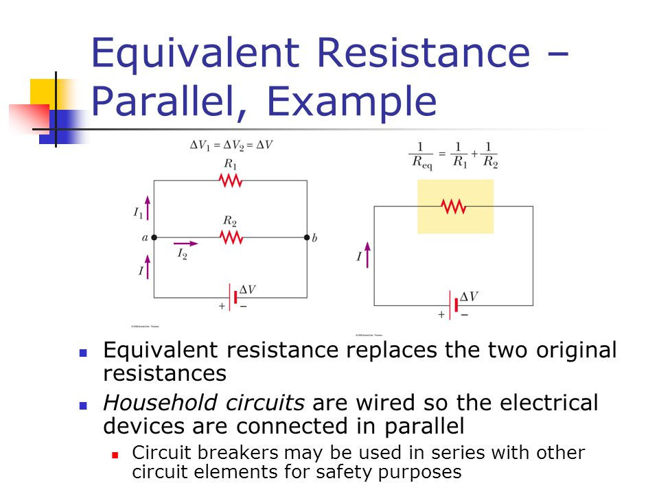 Equivalent Resistance – Parallel, Example