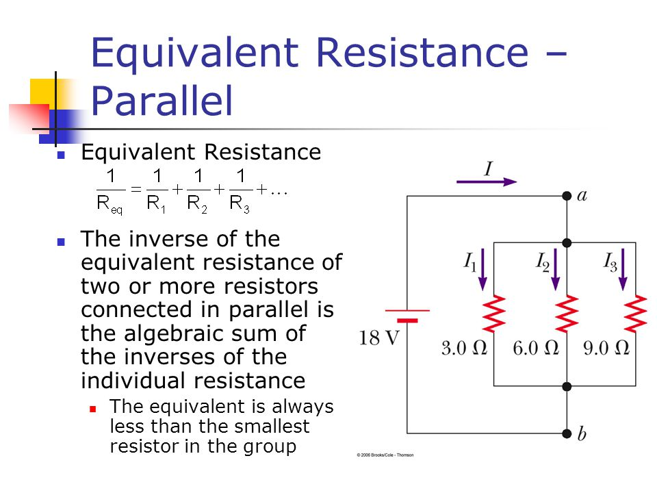 Equivalent Resistance – Parallel