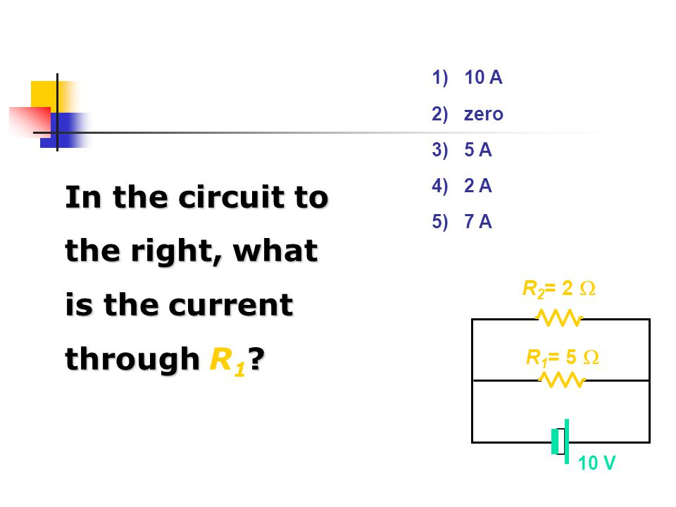 In the circuit to the right, what is the current through R1