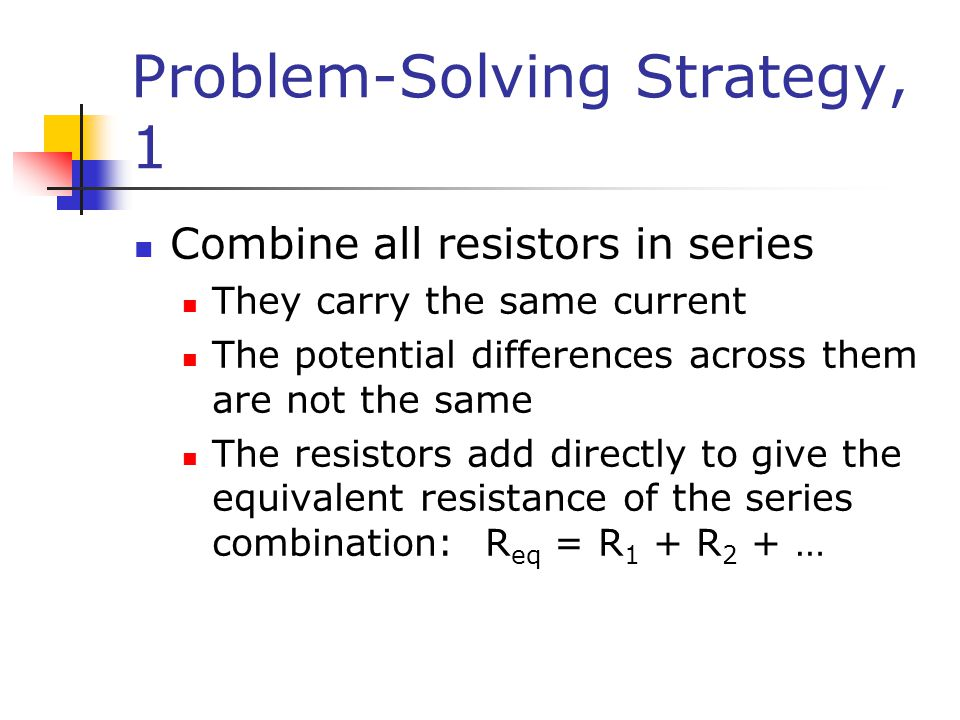 Problem-Solving Strategy, 1