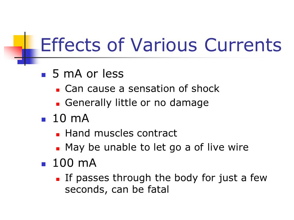Effects of Various Currents