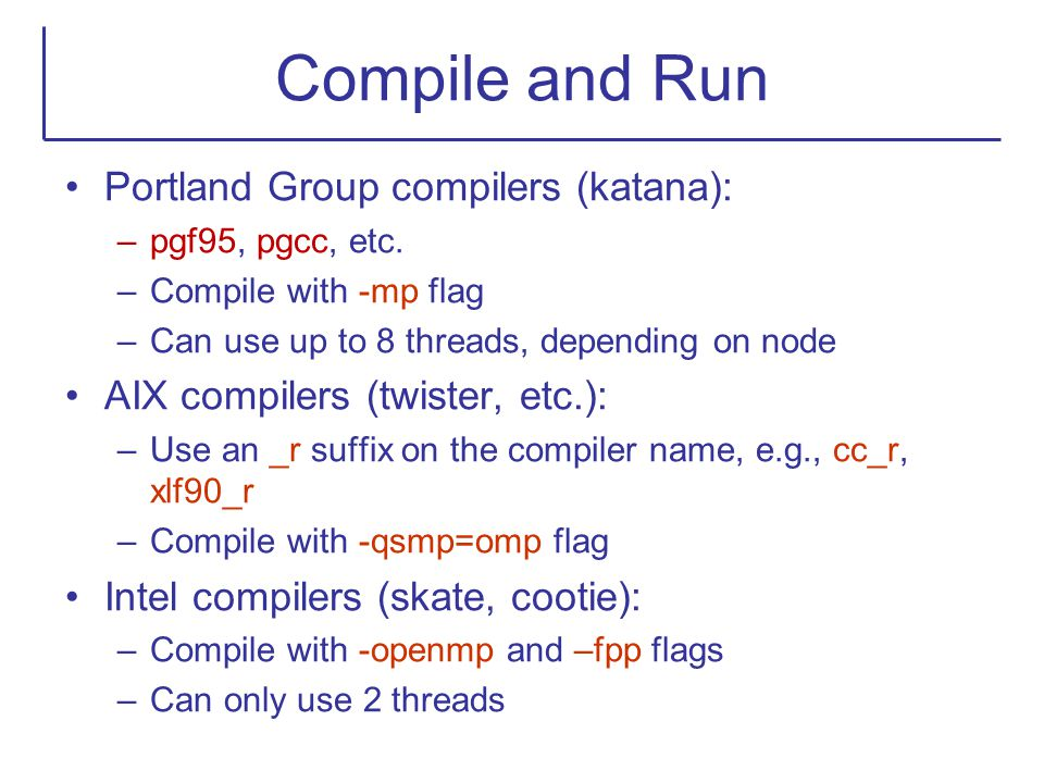 Compile and Run Portland Group compilers (katana):