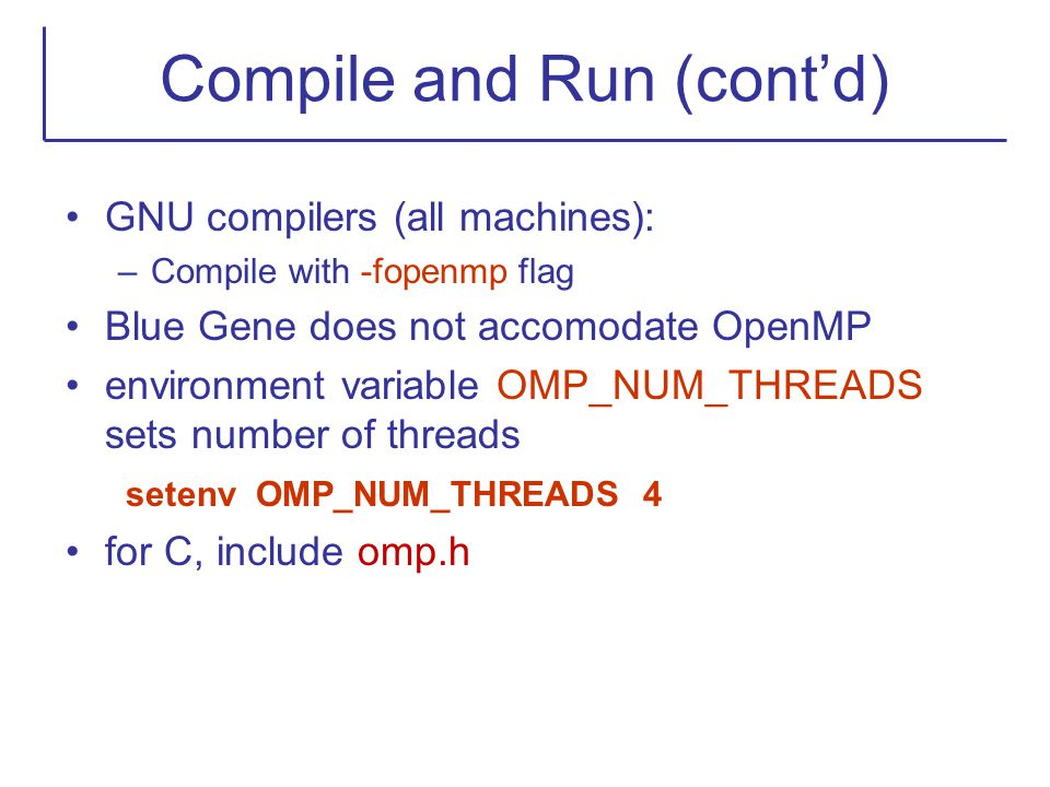 Compile and Run (cont'd)