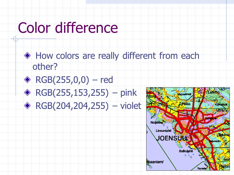 Color difference How colors are really different from each other