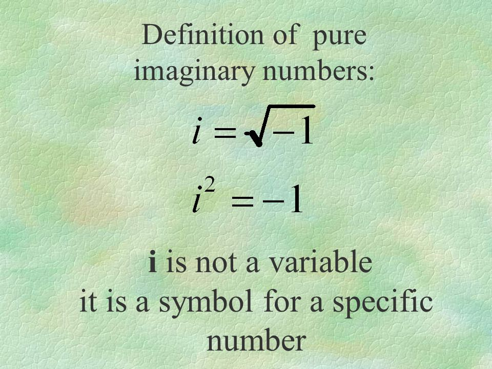 it is a symbol for a specific number