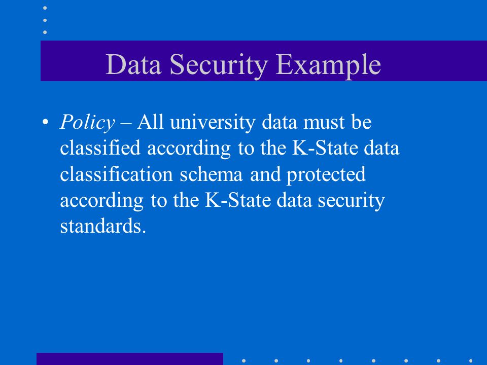 Data Security Example