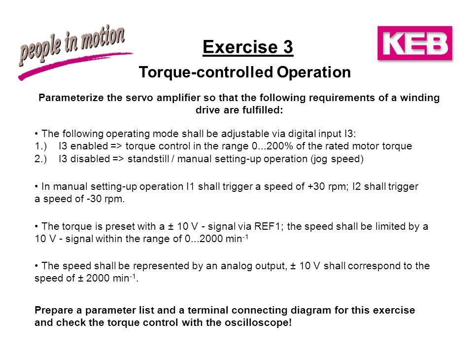 KEB COMBIVERT F5-M Exercises. - ppt video online download on