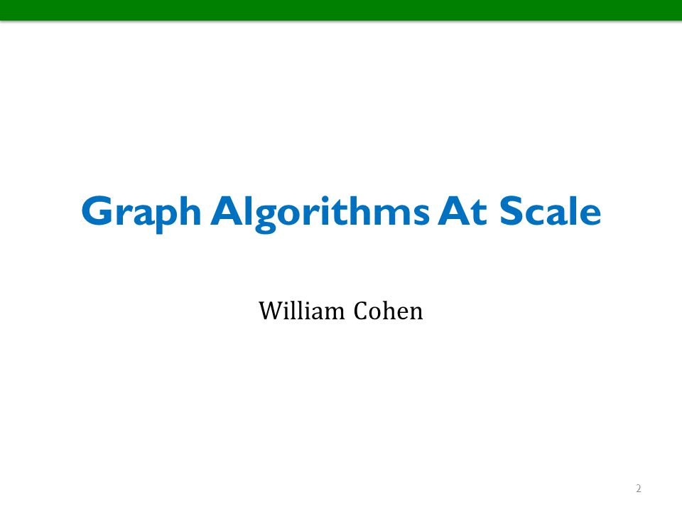 Graph Algorithms At Scale