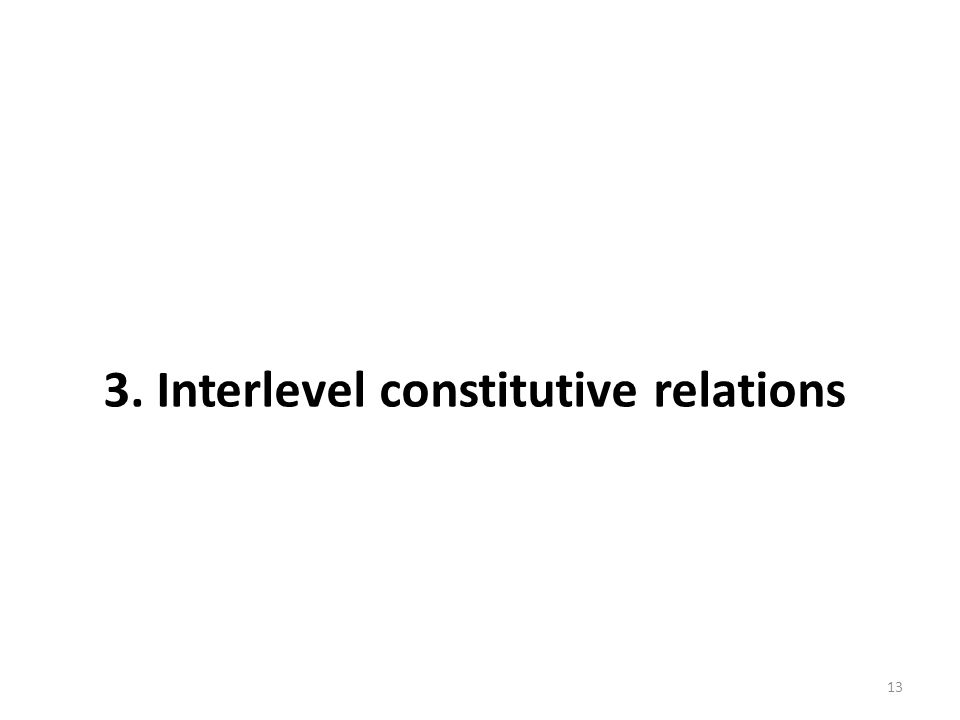 3. Interlevel constitutive relations