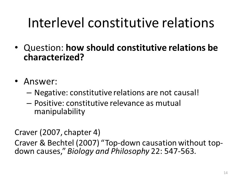 Interlevel constitutive relations
