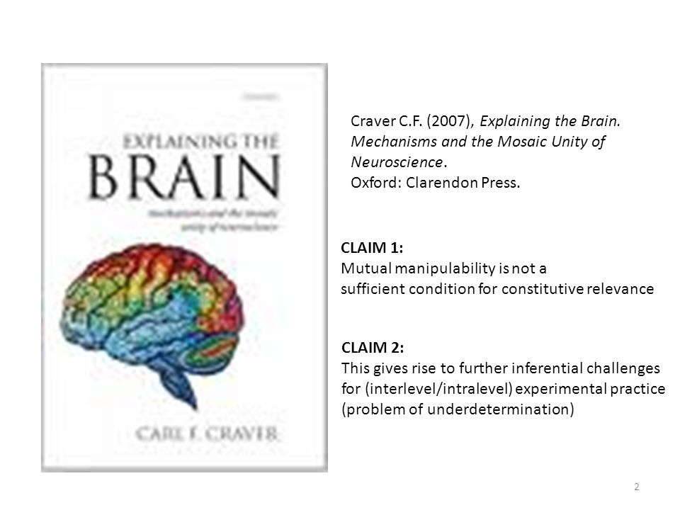 Craver C.F. (2007), Explaining the Brain.