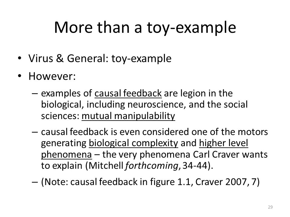 More than a toy-example