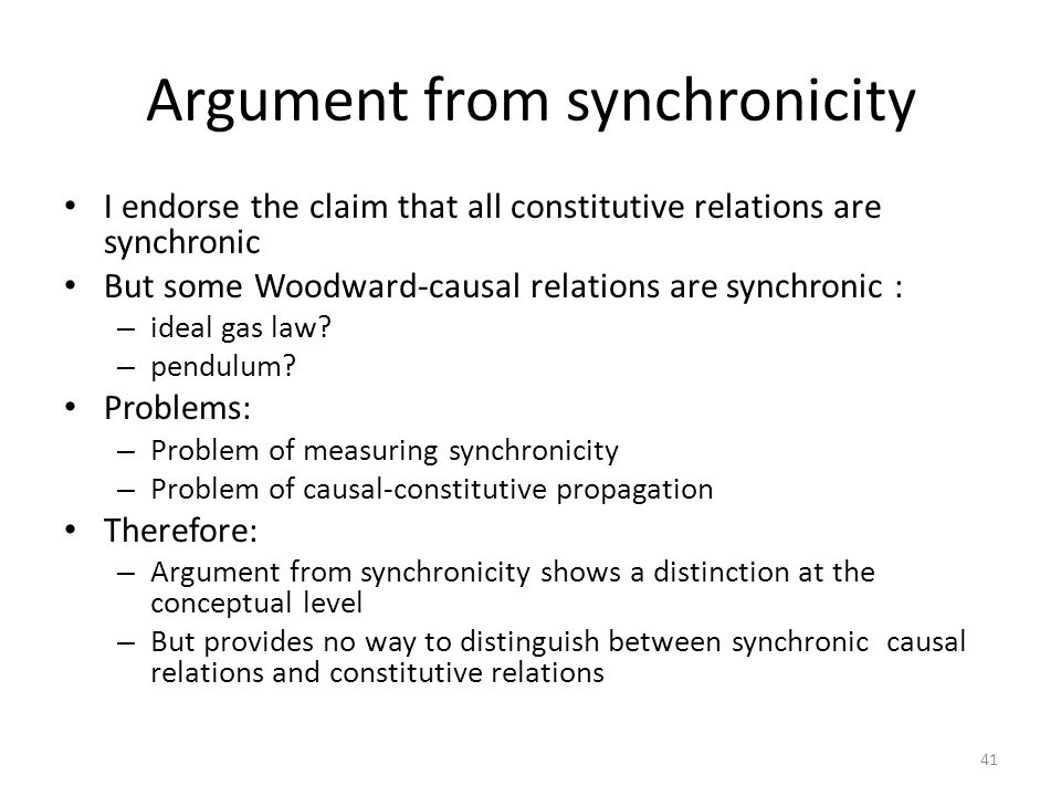 Argument from synchronicity