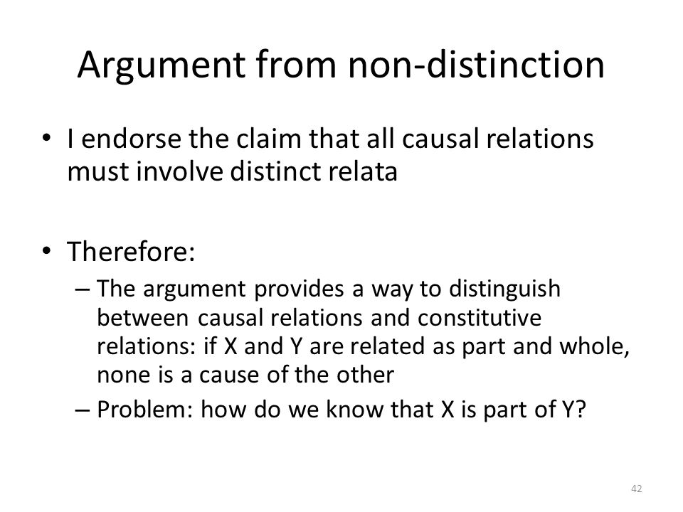 Argument from non-distinction