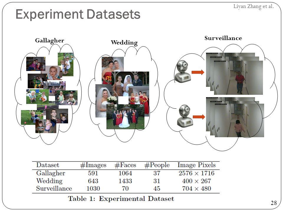 Experiment Datasets Surveillance Gallagher Wedding