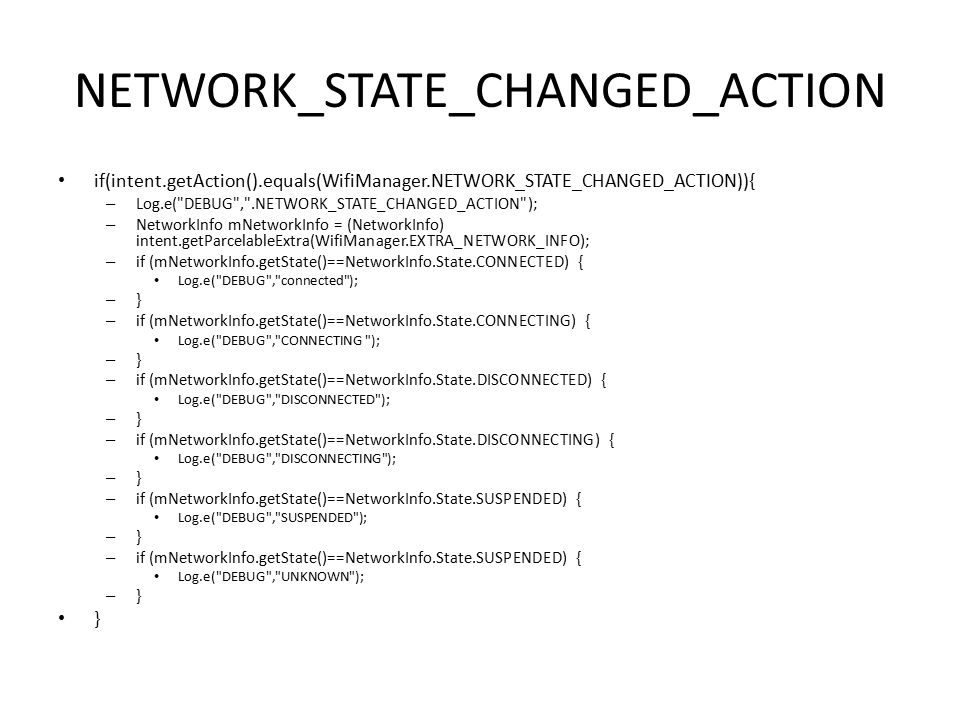 NETWORK_STATE_CHANGED_ACTION