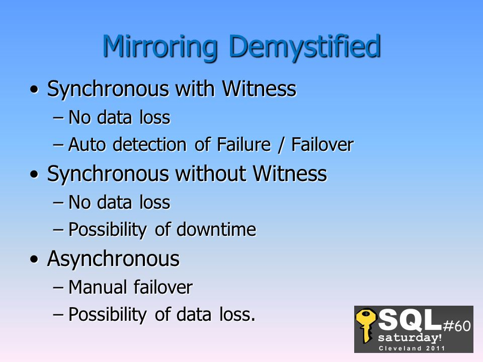Mirroring Demystified