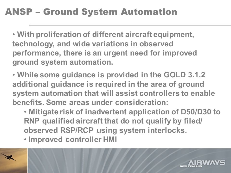 ANSP – Ground System Automation