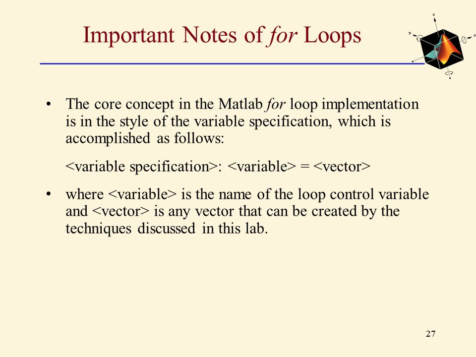 Important Notes of for Loops