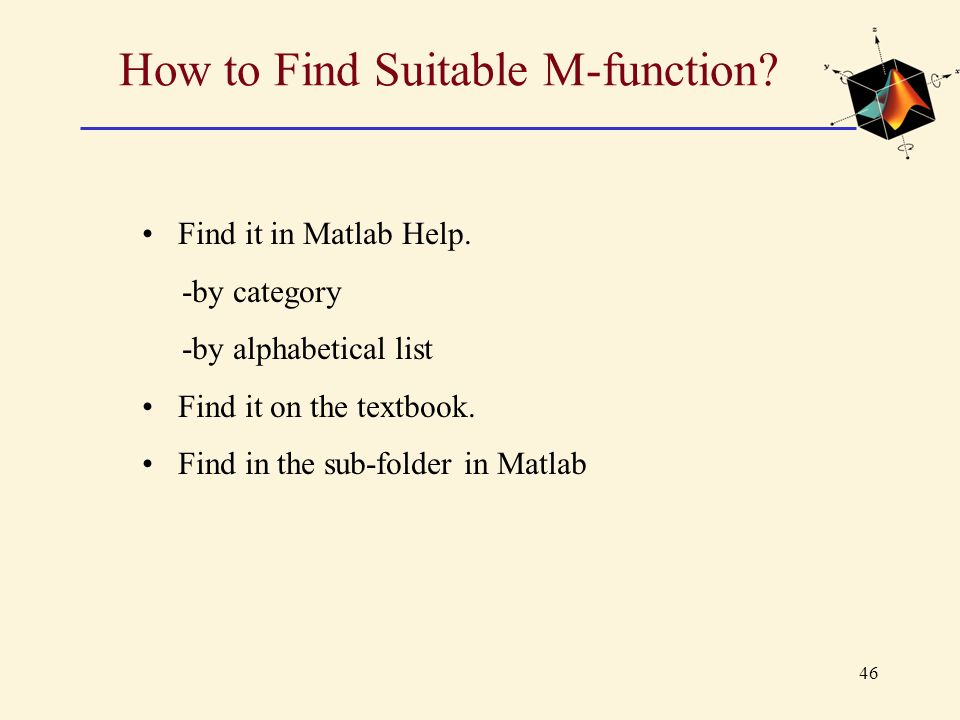 How to Find Suitable M-function