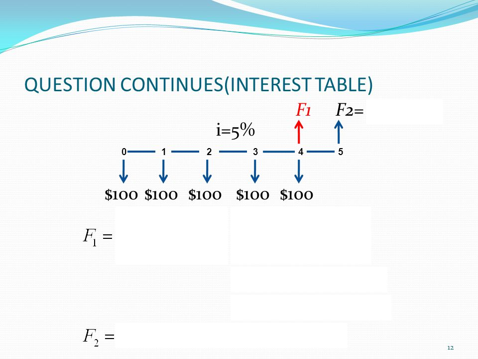 QUESTION CONTINUES(INTEREST TABLE)