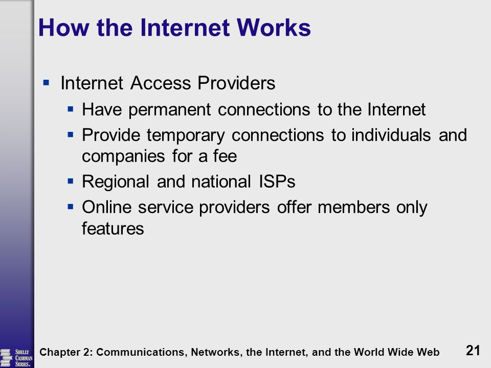 How the Internet Works Internet Access Providers