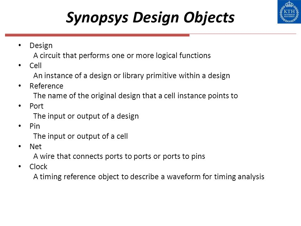 Synopsys Design Objects