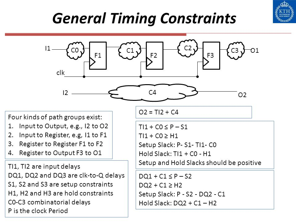 General Timing Constraints