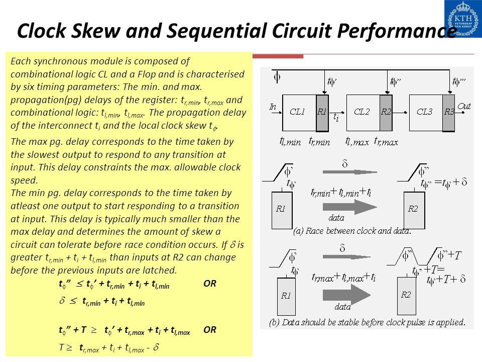 Clock Skew and Sequential Circuit Performance