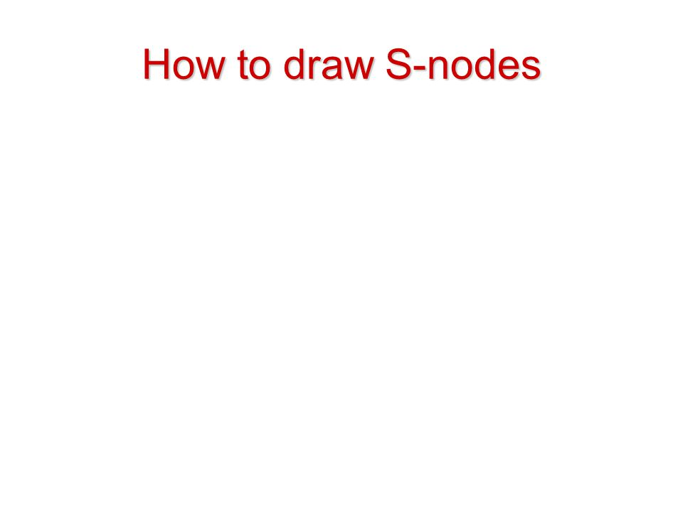 How to draw S-nodes