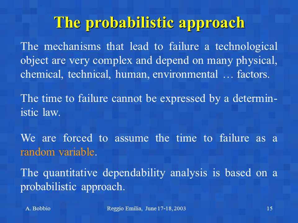 The probabilistic approach