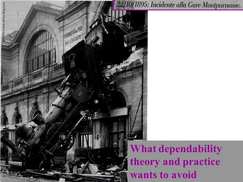 What dependability theory and practice wants to avoid A. Bobbio