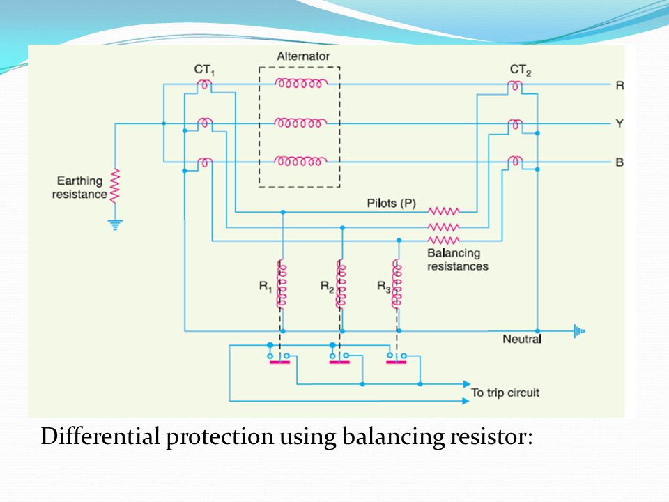 Differential protection using balancing resistor: