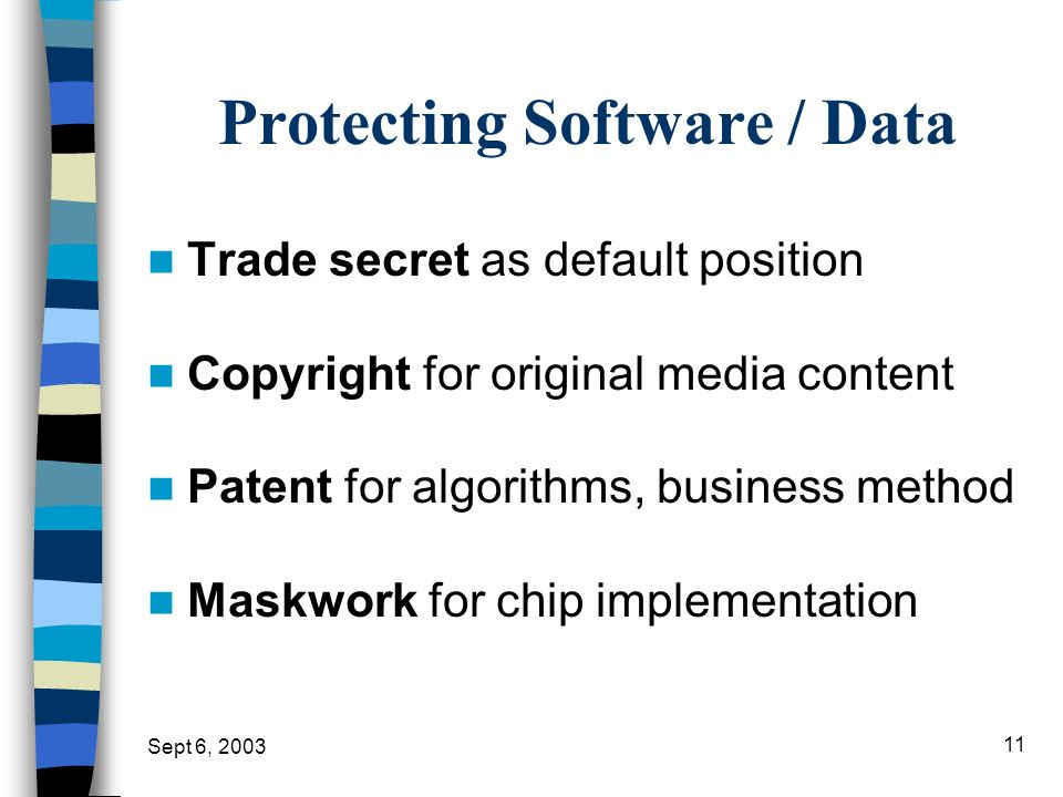 Protecting Software / Data