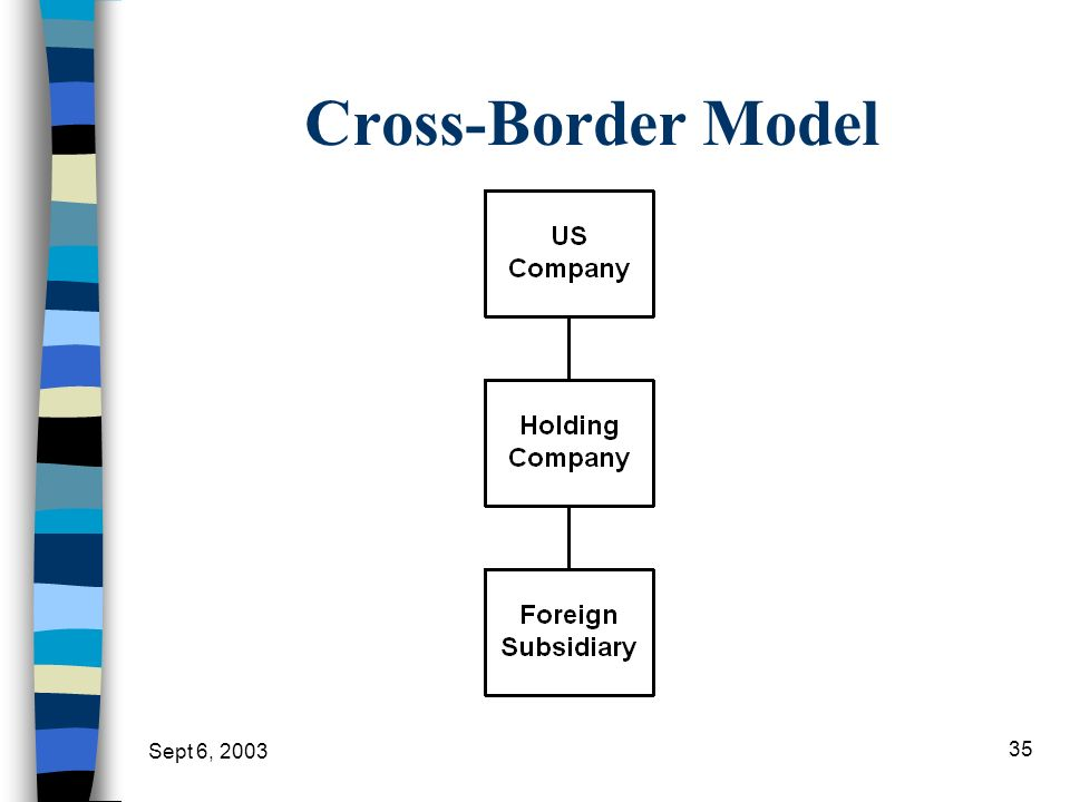 Cross-Border Model Sept 6, 2003