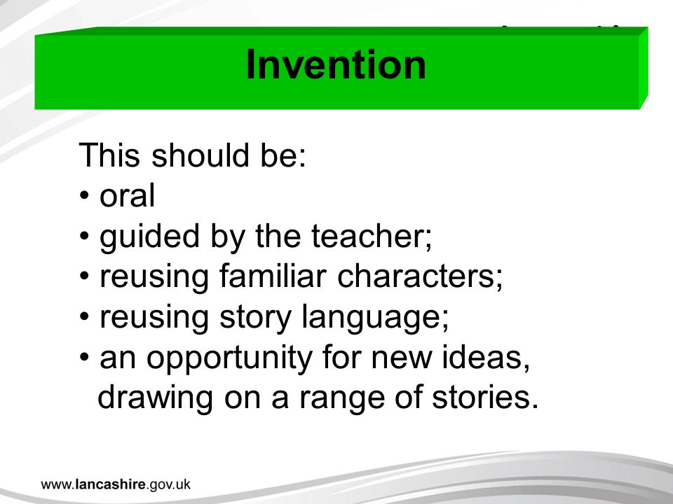 Invention This should be: oral guided by the teacher;