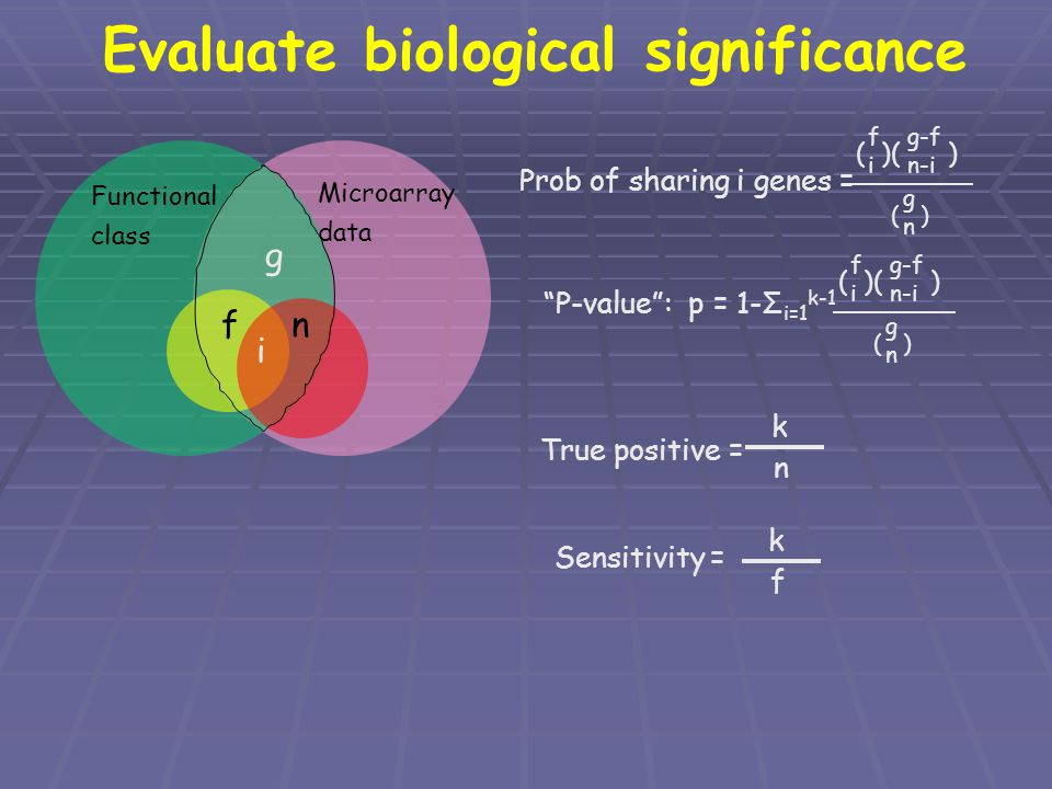 Evaluate biological significance