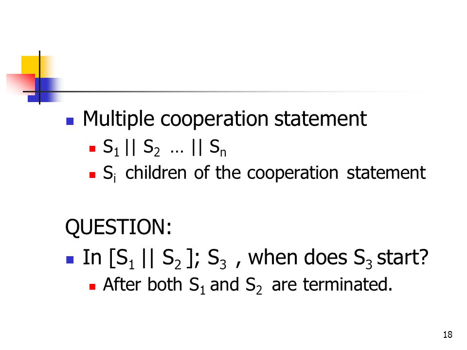 Multiple cooperation statement