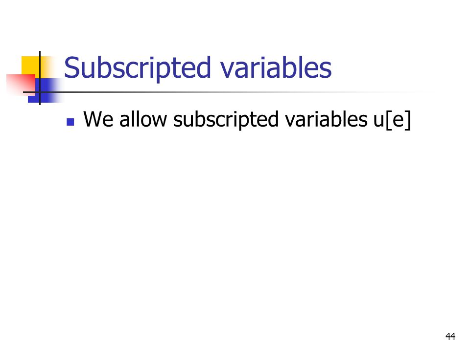 Subscripted variables
