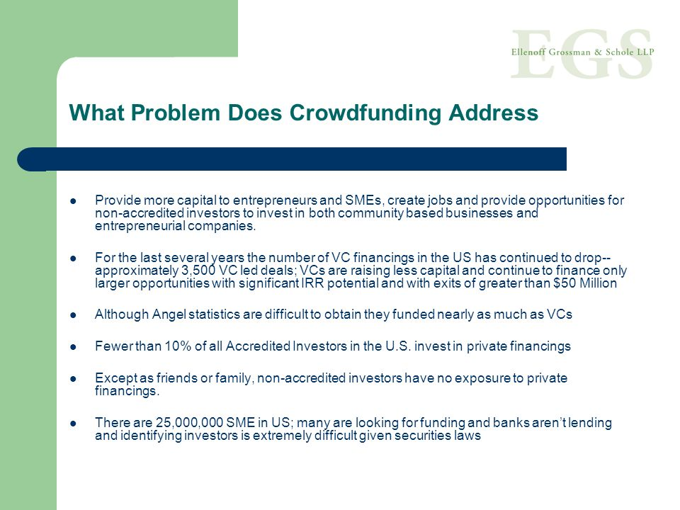 What Problem Does Crowdfunding Address