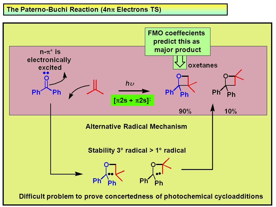 The Paterno-Buchi Reaction (4np Electrons TS)