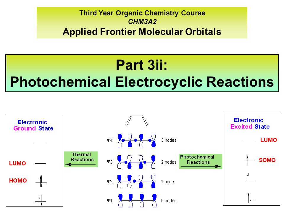 Part 3ii: Photochemical Electrocyclic Reactions