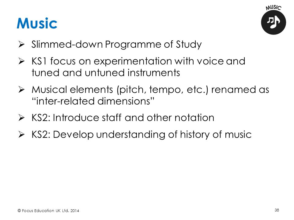 Music Slimmed-down Programme of Study
